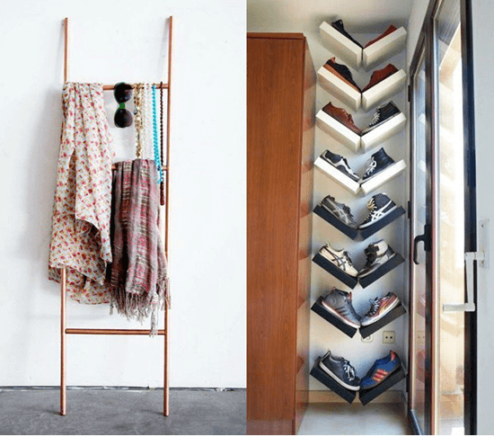 Decorate Your Ladder With Scarves & Handkerchiefs