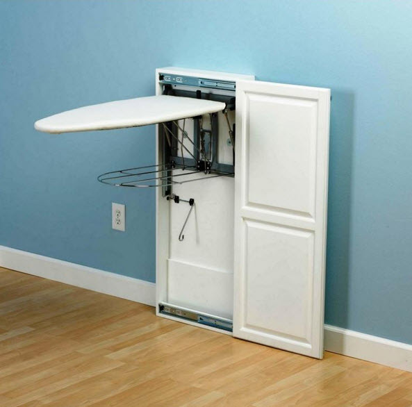 Built-in ironing boards
